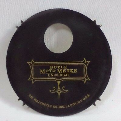 VINTAGE BOYCE Moto Meter UNIVERSAL Logo Plate Disc Used Parts Badge