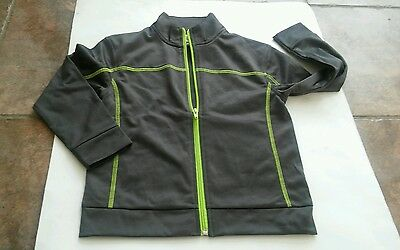 Kids Unisex Zip Front Racer Long sleeve Jacket Size XS 4/5