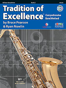 Tradition of Excellence Enhanced Book 2 - Tenor Saxophone - W62XB-Bruce Pearson