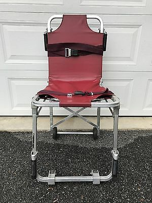 Ferno Stair Chair Model 42 w/ Vinyl Cover and Straps, Stairchair for EMT/MEDICS