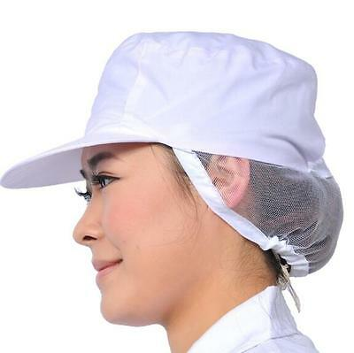 Unisex White Catering Hat Chef Bakers Bouffant Cap Food Hygiene Snood Cap