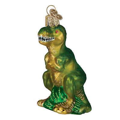 """T-Rex"" (12368) Old World Christmas Glass Ornament w/OWC Box"