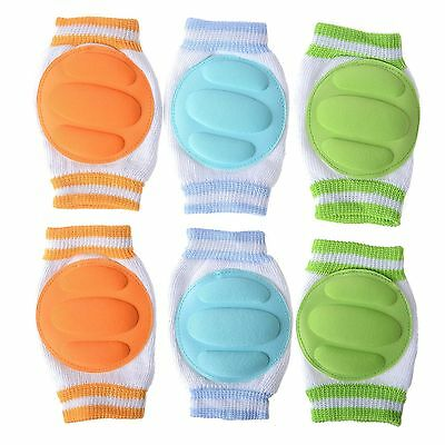 Cren Infant Toddler Baby Knee Pad Crawling Safety Protector pack of 3 pairs