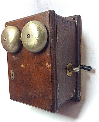 Antique oak Western Electric telephone ringer box Vintage phone