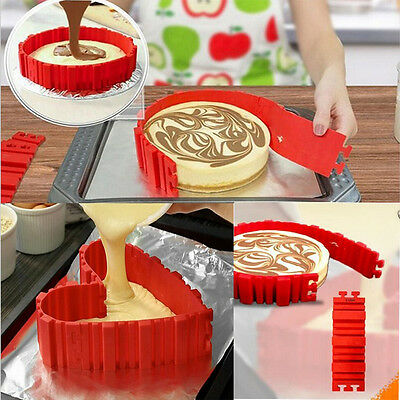 4x Silicone Cake Mold Magic Bake Snakes Create Chape Nonstick Tray Baking Mould