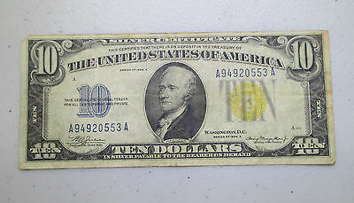 1934A $10 WWII EMERGENCY ISSUE SILVER CERTIFICATE (NORTH AFRICA) - Lot AB24