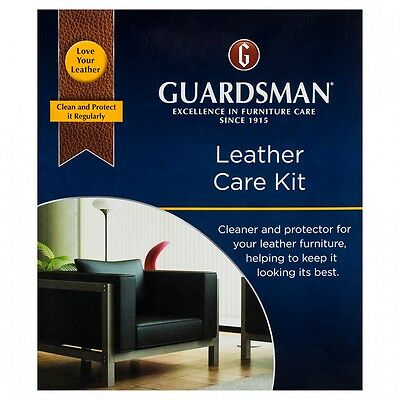 Leather cleaner - Guardsman leather care kit for cleaning all leather upholstery