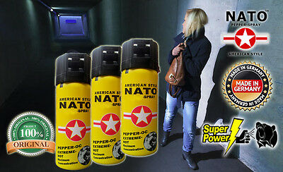 3 STÜCK original NATO bear Spray 50mL Made in Germany restposten anti diebstahl