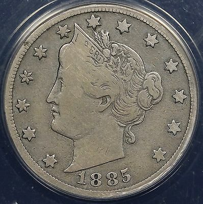 1885 5C Liberty Nickel ANACS VG 8