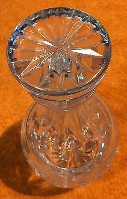 Magnificent /Vintage Heavy Cut Design Crystal Glass  Decanter with Stopper
