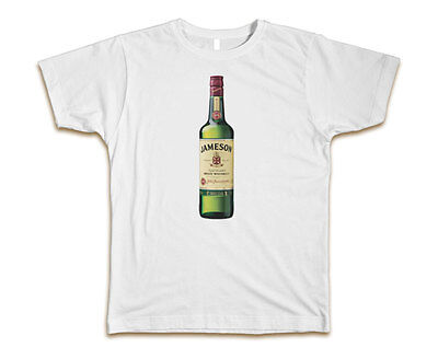 Jameson Bottle Irish Whiskey Custom Mens T-Shirt Tee S-3XL New-White