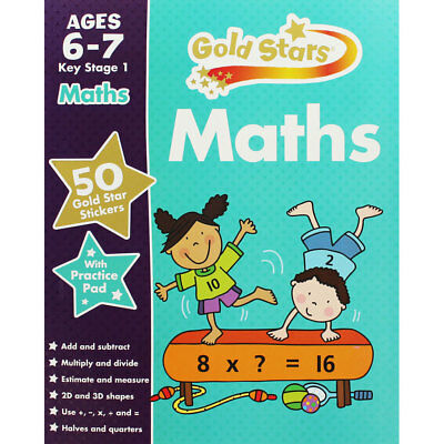 Gold Stars Maths Ages 6-7 Key Stage 1 (Paperback), Children's Books, Brand New