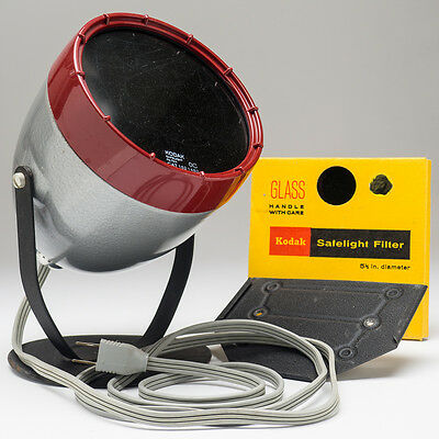 Kodak Adjustable Safelight Lamp Model B with Wall Mount Plate 2 filters