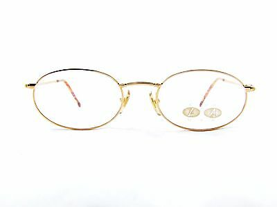 e92e34f808 Club LA 6312 Oval Gold Metal Fancy Vintage Women's Eyeglasses 90s France NOS