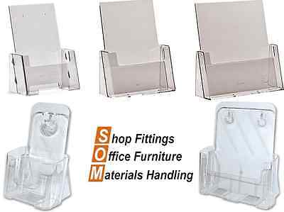 Portrait Display Stand Brochure Holder Acrylic Perspex A4, A5, 1/3 A4