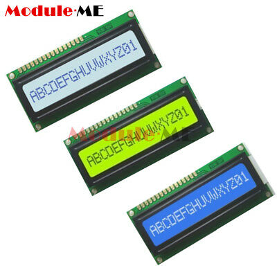 16x1 1601 Character LCD White/Yellow/Blue Blacklight Display Module F Arduino M