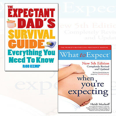 Expectant Dad's Survival Guide and What to Expect When 2 Books Collection Set UK