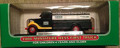New 2000 Mini First Hess Truck Mint in Box Miniature