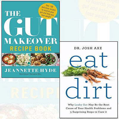 Eat Dirt and Gut Makeover Recipe Book Collection 2 Books Set Paperback New Pack