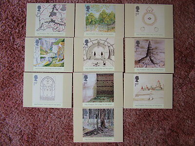PHQ Card set No 261 THE LORD OF THE RINGS 2004. 10 card set  Mint Condition