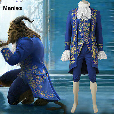 2017 Movie New Beauty and the Beast The Beast Adam Adult Cosplay Fancy Costume