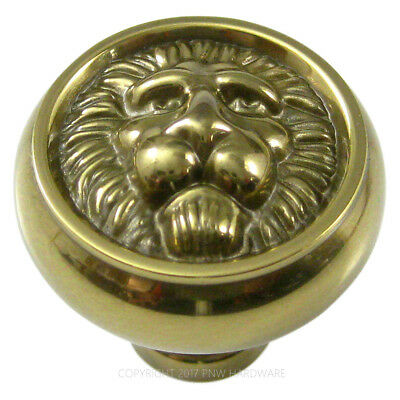 Lion Face Antique Brass Hickory F102 Richelieu SOLID BRASS Kitchen Cabinet Knob