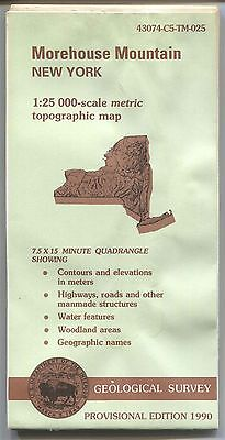 US Geological Survey topographic map metric MOREHOUSE MOUNTAIN New York 1990 PE