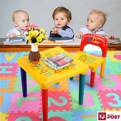 Kids Toddler Children Square Activity Table Kid Study Desk and Chair Set  BBY AU