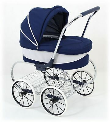 Just Like Mum Princess Doll Stroller (Navy) - Valco Baby
