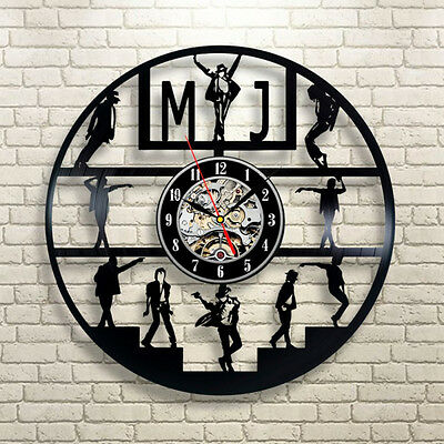 MJ Vinyl LP Record Wall Clock Home Decor Creative Gift For Michael Jackson Fans