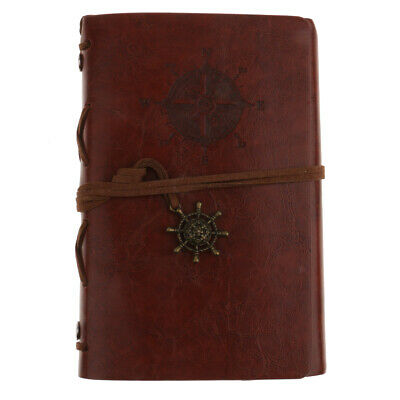 Vintage Notebook Leather Journal Diary Blank Paper Note Book Sketchbook
