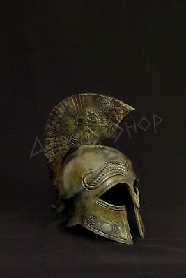 Bronze Spartan Helmet with soldier