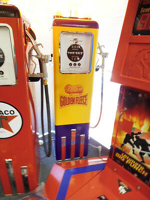 Golden Fleece Full Size Light Up Petrol Gas Pump Garage Bar Arcade  Mr Pinball