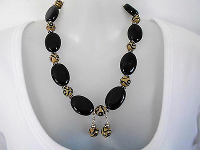 SALE Brown+Cream Ceramic Necklace and Earring Set was $34 NOW $30