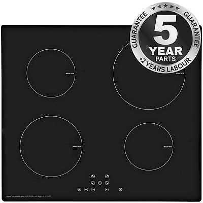 SIA IND613BL 60cm ECO 13 Amp 4 Zone Touch Control Black Electric Induction Hob