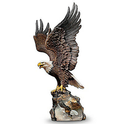 Ted Blaylock 'Canyon Guardian' Eagle Sculpture