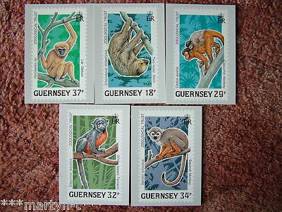 Guernsey Stamp cards No 10, Wildlife Conservation 1989. 5 card set Mint Cond.