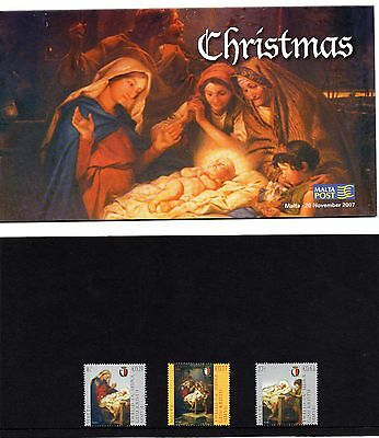 Malta 2007 Christmas Presentation Pack SG 1574 - 1576 Unmounted Mint