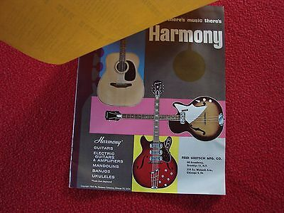 Original 1964 Harmony 20 Page Guitar/Amplifier Catalog with Price sheet