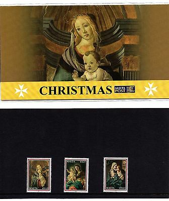 Malta 2009 Christmas Presentation Pack SG 1635 - 1637 Unmounted Mint