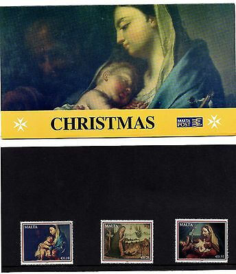 Malta 2008 Christmas Presentation Pack SG 1607 - 1609 Unmounted Mint