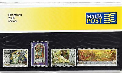 Malta 2005 Christmas Presentation Pack SG 1450 - 1453 Unmounted Mint