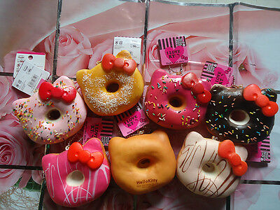 Hello Kitty Jumbo Donut Squishy Ball Chain Random 1 PCs Sweet Smell