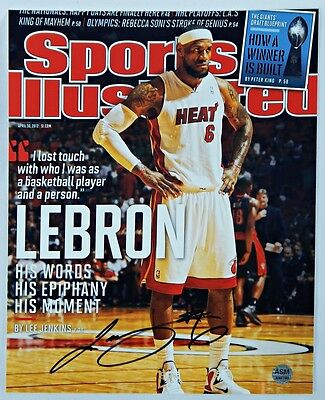 Sports Illustrated Lebron James Hand Signed Cover Photograph WCOA