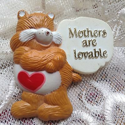 """Vintage Care Bears American Greeting Pin """"Mothers Are Loveable"""""""