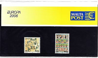 Malta 2006 Europa Presentation Pack SG 1482 - 1483 Unmounted Mint