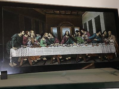 last supper etched in marble and painted