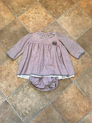 Baby Girls Spanish Pink Dress And Knicker Set Age 18-24months