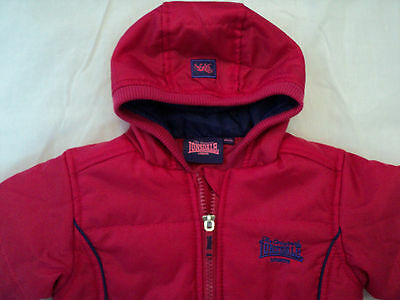 "Baby Girls ""Lonsdale"" 6 - 12 months Cerise Pink Jacket with Hood"