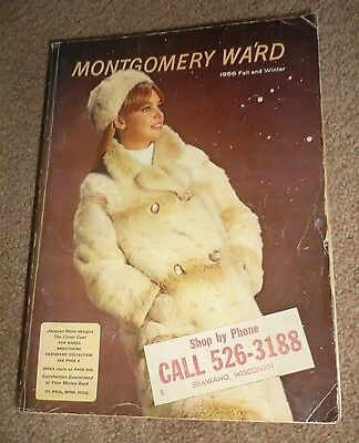 Vintage Montgomery Wards 1966 Fall & Winter Department Store Catalog